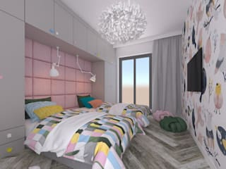 Secret Project - Apartament z widokiem na park a za nim morze: styl , w kategorii Pokój dziecięcy zaprojektowany przez 4 kąty a stół 5 Pracownia Projektowa Ewelina Białobrzewska