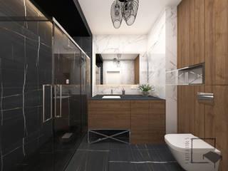 Secret Project - Apartament z widokiem na park a za nim morze: styl , w kategorii Łazienka zaprojektowany przez 4 kąty a stół 5 Pracownia Projektowa Ewelina Białobrzewska