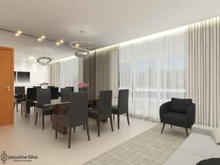Apartamento FF: Salas de jantar  por JAQUELINE SILVA ARQUITETURA E INTERIORES