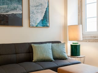 Traço Magenta - Design de Interiores Living roomAccessories & decoration Blue