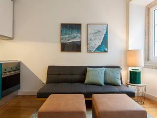 Apartamento c/ 1 quarto - São Bento, Lisboa:   por Traço Magenta - Design de Interiores