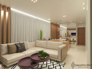 Apartamento JL:   por JAQUELINE SILVA ARQUITETURA E INTERIORES