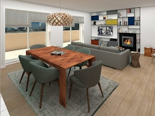 Design and Decoration in an Apartment in Lavra No Place Like Home ® Ruang Makan Modern