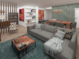 Design and Decoration in an Apartment in Lavra No Place Like Home ® Ruang Keluarga Modern