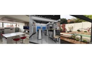 RESUMEN DISEÑO INTERIOR - RETAIL- PAISAJISMO: Cocinas equipadas de estilo  por H3A ARQUITECTOS