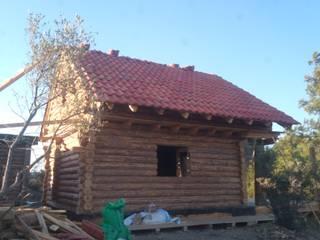 Dost ahşap – kabuklu ağaç ev:  tarz Villa