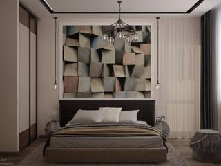 Industriale Schlafzimmer von Студия интерьерного дизайна happy.design Industrial
