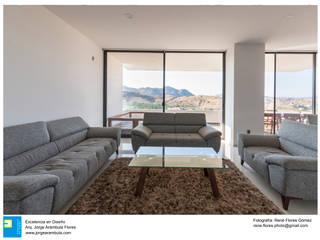 Salas de estilo  por Excelencia en Diseño, Minimalista