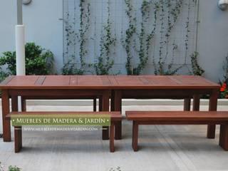 Bancos para Jardín:  de estilo  por Muebles de Madera y Jardín .COM