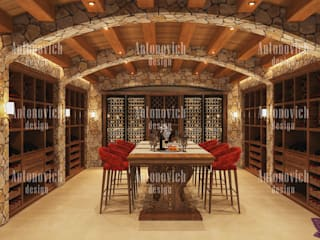کھانے کا کمرہ by Luxury Antonovich Design