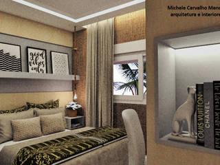 Quarto de Casal F&V: Quartos  por Arquiteta Michele Carvalho Mendes