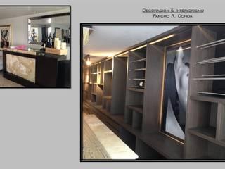 Pancho R. Ochoa Interiorismo Modern Home Wine Cellar Copper/Bronze/Brass Amber/Gold