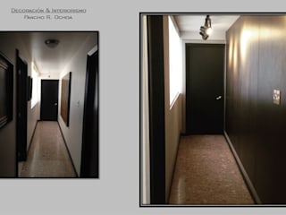 Pancho R. Ochoa Interiorismo Modern Corridor, Hallway and Staircase Wood Brown