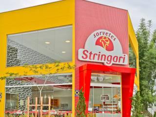 Sorveteria Stringari Praia Brava Espaços gastronômicos modernos por Cor3D Projetos de Interiores Moderno