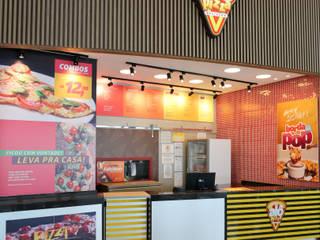 Pizzaria Alô Pizza Espaços gastronômicos modernos por Cor3D Projetos de Interiores Moderno