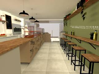 Arquiteca Projetos Eclectic style gastronomy