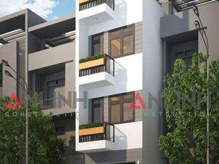 Mẫu nhà phố - PHAN GIANG TIẾN:   by CÔNG TY THIẾT KẾ XÂY DỰNG AN LĨNH
