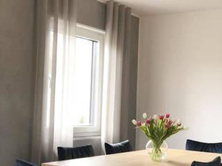 Feststehende Gardinen mit Deckenschienen.:  Esszimmer von Traumreich mehr als Raumausstattung