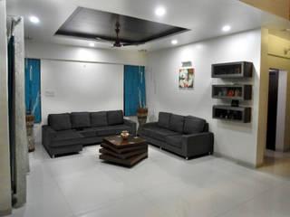 Vangikar Residence Interiors Modern living room by Vangikar Architects Modern