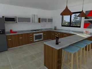 Diseño de Interiores: Cocinas de estilo moderno por Sólido Arquitectura