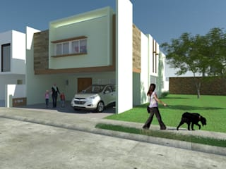 Diseño de fachadas: Casas de estilo moderno por Sólido Arquitectura