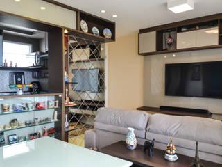 Apartamento G+V Salas de estar modernas por Ladrilho Urbanismo e Arquitetura Moderno