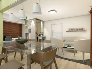 Apartamento C+M Salas de estar clássicas por Ladrilho Urbanismo e Arquitetura Clássico