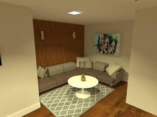 Salas / recibidores de estilo  por Aline Mozzer Arquitetura, Moderno