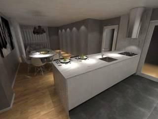 Remodelação de Apartamento T2: Cozinhas  por RMA - Rui Mourão Arquitecto Unipessoal Lda