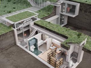 Жилой дом-бункер Дома в стиле минимализм от НОВАКРЫМ Минимализм