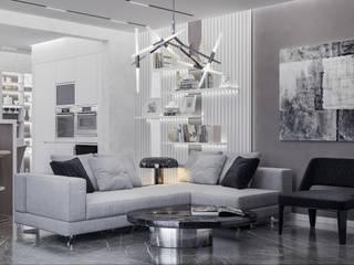 Дизайн-проект квартиры на ЮБК Гостиная в стиле минимализм от НОВАКРЫМ Минимализм