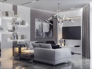 Дизайн-проект квартиры на ЮБК: Гостиная в . Автор – НОВАКРЫМ