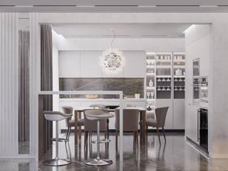 Дизайн-проект квартиры на ЮБК Кухня в стиле минимализм от НОВАКРЫМ Минимализм
