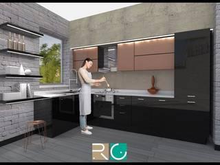 Cucina Sartoriale: Cucina in stile in stile Moderno di Roberto Galvani Studio di Interior Design