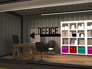 Next Container – Next Container - 40 F Yönetici Odası:  tarz Çalışma Odası
