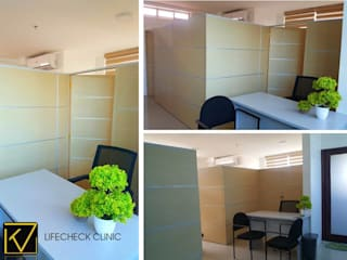 Straight-forward Clinic Office:  Study/office by Kat Interior and Design