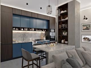 Кухонная зона: Встроенные кухни в . Автор – Татьяна Аверкина