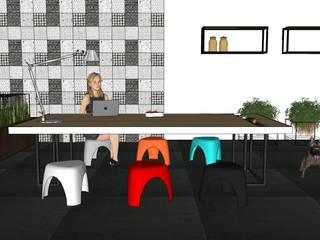 オフィスデスク「SUZURI」: COMMAGRAM.が手掛けたミニマリストです。,ミニマル