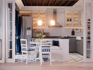 Квартира по ул. Аэродромная Столовая комната в скандинавском стиле от Design Service Скандинавский
