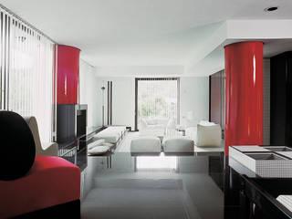 Villa a Casal Palocco Soggiorno moderno di Studio Transit Moderno
