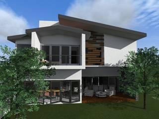 Fachada Posterior: Casas unifamiliares de estilo  por Arq. Máximo Alvarado Bravo