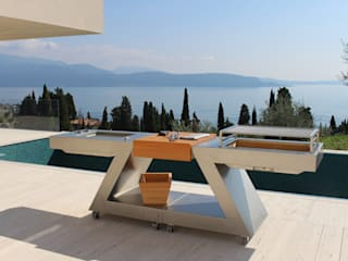 OUTDOOR KITCHEN:  in stile  di ZED EXPERIENCE - indoor & outdoor kitchen