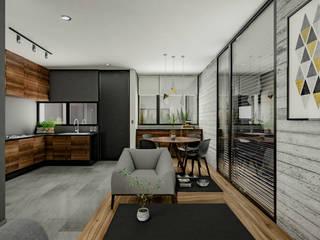 AM Departamentos Villalba Palau Arquitectos Salones minimalistas