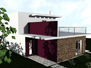 """HABITAÇÃO UNI FAMILIAR  """"A CASA NO CARTAXO"""" : Casas unifamilares  por DHPRO,Moderno"""