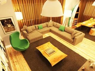 NDA CONCEPT – ÖRÜMCEK MİMARLIK:  tarz Oturma Odası, Modern