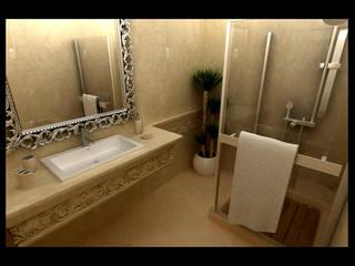 NDA CONCEPT – ÖRÜMCEK MİMARLIK:  tarz Banyo, Rustik