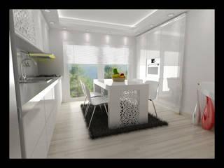 NDA CONCEPT – ÖRÜMCEK MİMARLIK:  tarz Mutfak üniteleri, Modern