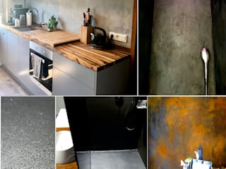 luanna design Eclectic style walls & floors Concrete Grey