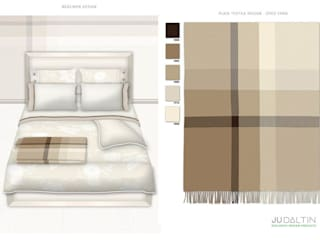 TEXTILES FOR BEDROOM:  in stile  di JU by Juliana Daltin