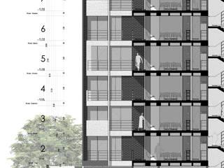 CORTE FACHADA RESERVAS ALTOS DE SANTA HELENA :  de estilo  por 365 Estudio